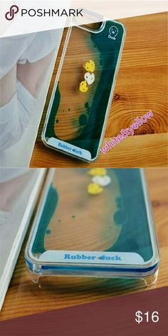 *Rubber Ducky & Wat?r Phone Case* This is so cute the water moves as it appears ducks are swimming  n it. Can get sizes 4 most iphones Galaxy & Samsung. Just leave comment with kind of phone & I'll get ur on way. Accessories Phone Cases