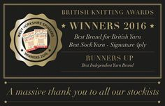 I'm so proud!! @westyorkshirespinners won Best British Brand for the 3rd year!  so nice to see them getting the recognition they deserve. We stock them! Come and see what all the fuss is about.  // #westyorkshirespinners #auyarns #alterknituniverse // From our shop account: @AUshopUK follow us for more fun peeks into our shop near Bristol UK. http://ift.tt/1SPuuxi We're the wool shop in Cleeve with the big sheep mural on the A370.