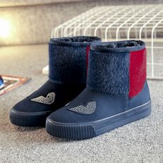 High Top Snow Boots Casual Fur Lining Cotton Keep Warm Casual Shoes  Worldwide delivery. Original best quality product for 70% of it's real price. Hurry up, buying it is extra profitable, because we have good production sources. 1 day products dispatch from warehouse. Fast & reliable...