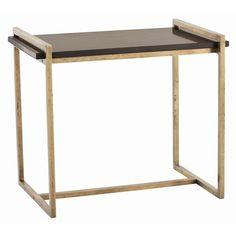 Arteriors Hollis Vintage Brass And Marble Side Table - Arteriors-6683 | Candelabra, Inc.