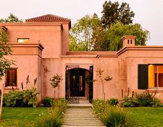 House entrance decoration dream homes 64 Ideas Spanish Style Homes, Spanish House, Santa Fe Style, Brick Architecture, Cottage Style Homes, Castle House, American Houses, House Paint Exterior, House Entrance