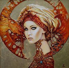 Designer Clothes, Shoes & Bags for Women Mode Baroque, Modern Art, Contemporary Art, Foto Fantasy, Fantasy Art Women, Fairy Art, Fantastic Art, Art Plastique, Portrait Art