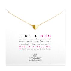 like a mom heart necklace, gold dipped