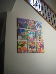 Toddler Artwork Collage Canvas Project