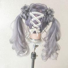 Pin on ヘアカラー Kawaii Hairstyles, Pretty Hairstyles, Wig Hairstyles, Manga Hair, Anime Hair, Kawaii Wigs, Lolita Hair, Cosplay Hair, Hair Reference