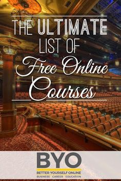 The Ultimate List of Free Online Courses