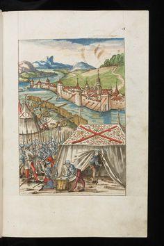 Aarau, Aargauer Kantonsbibliothek, MsWettF 16: 2: Silbereisen: Chronicon Helvetiae, partie II · Wettingen · 1572 Langue:Allemand (http://www.e-codices.unifr.ch/fr/list/one/kba/0016-2)