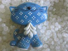 старинные синий Калико кошка Avon духи контактный приятель от 1973 по roseluv