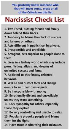 Narcissist. I know a few....THIS IS SO U