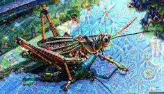 Time to play with Google deep dream! #deepdream #google #grasshopper #ai by inqhawk7