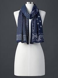 Patch bandana scarf from Gap