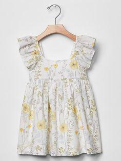 Spring floral flutter dress