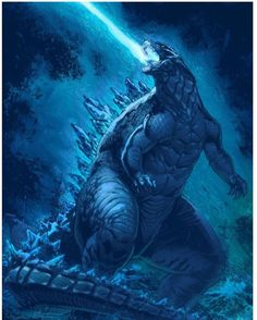 Godzilla: King of the Monsters by tylercairnsart on DeviantArt All Godzilla Monsters, Godzilla Comics, Godzilla Godzilla, Godzilla Costume, Godzilla Tattoo, Godzilla Wallpaper, Tiamat Dragon, Game Of Thrones Wallpaper, Old Posters