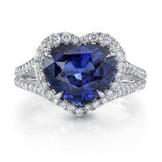 Omi Privé ~ Sapphire and Diamond Ring