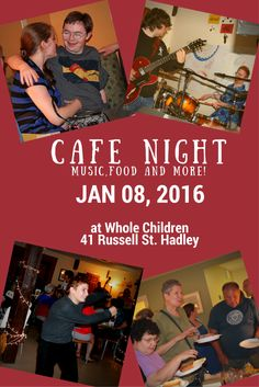 Start the new year right with the first Cafe Night of 2016! Socialize with old friends, make new friends or just enjoy the live music. Either way, you can't lose.   If you'd like to help prepare and serve the food for the evening, sign up at http://milestones-program.org/classes/cafe-cooking-friday-january-8-430-630-p-m-15/