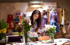 The Everygirl DIY Floral Event at @Anthropologie // photography by Coach House Pictures