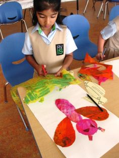 Eric Carle Art in Pre-Kindergarten | Art Lessons For Kids