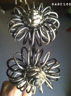 diadema  florin diadema  florin aluminio de bisuteria,diadema de metal,botones rosa plata alambrismo