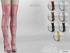 The Sims Resource: Madlen Java Boots by MJ95 • Sims 4 Downloads