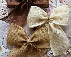This item is unavailable Burlap Pew Bows, Tulle Pew Bows, Burlap Lace, Lace Bows, Burlap Ribbon, Wedding Chair Bows, Wedding Pews, Wedding Chairs, Bow Wedding