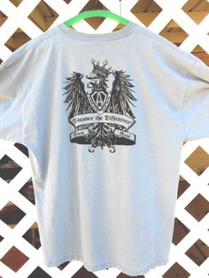 Arlen Ness Men's T Shirt Blue Gray Size XL Discover The Difference Girls Eagle #PortandCompany #GraphicTee Sold.