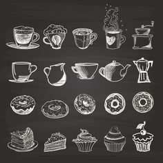 A Comprehensive Overview on Home Decoration - Modern Coffee Chalkboard, Blackboard Art, Kitchen Chalkboard, Chalkboard Lettering, Chalkboard Designs, Lettering Art, Coffee Cup Art, Coffee Shop, Coffee And Donuts