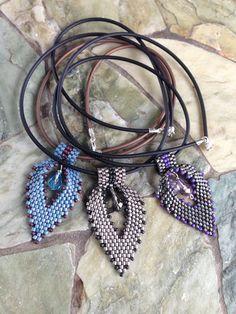 Materials: 5 gms size 10 Delica beads - Semi-matte Transparent Silver Lined Light Silver Gray 11/0 Seed Beads Miyuki - Matte Metallic PineGreen Iris 1- Silve...