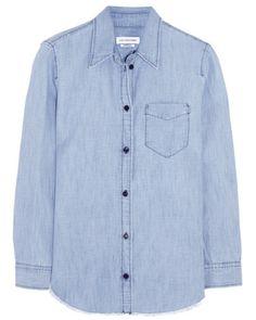 Chemise en toile bleu ciel, Étoile Isabel Marant
