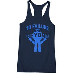 To Failure and Beyond Fitness Toy Story Buzz Lightyear Wod Workout... ($18) ❤ liked on Polyvore featuring activewear, activewear tops, black, tanks, tops, women's clothing and yoga activewear