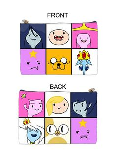 Adventure Time Double Sided Zip Bag on Etsy, $12.00