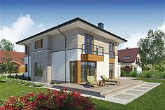 Projekt domu Telmun 2 167,08 m2 - koszt budowy - EXTRADOM Home Fashion, Planer, Gazebo, Outdoor Structures, Mansions, House Styles, Home Decor, Home Plans, Projects