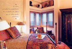 Southwestern styled bedroom