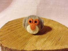 Needle Felted Owl   miniature grey owl figure  100 by feltindevon