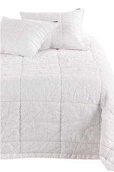 Ellos Home Sinna-päiväpeite pestyä pellava-puuvillasekoitetta, 260x260 cm Valkoinen, Keskiyönsininen, Harmaa - Parisänkyyn | Ellos Mobile