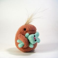 Needle felted critter. OMG, adorable!