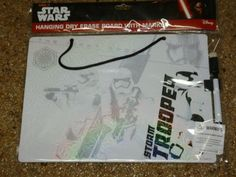 NEW w Tag Disney STAR WARS Storm Trooper Hanging Dry Erase Board with Marker…