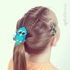 """""""Elastics and French braids into ponytail. Accessorised with a Hama bead clip """" Photo taken by @flettemia on Instagram, pinned via the InstaPin iOS App! http://www.instapinapp.com (03/31/2015)"""