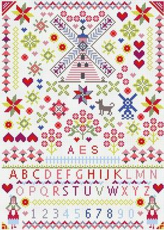 WINDMILLS SAMPLER Cross Stitch Kit by Riverdrift House, http://www.amazon.co.uk/dp/B00F1EIM00/ref=cm_sw_r_pi_dp_9Gq.sb1EDYT2T