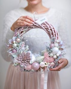 Artificial fir tree as Christmas decoration? An artificial Christmas Tree or even a real one? Lovers of artificial Christmas decorations , such as Christmas tree or artificial Advent wreath know the a Pink Christmas, Handmade Christmas, Christmas Crafts, Christmas Ornaments, Diy Spring Wreath, Diy Wreath, Wreath Ideas, Xmas Wreaths, Easter Wreaths