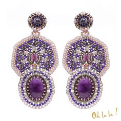 Amethyst and Silver Statement Swarovski Crystal от OhlalaJewelry