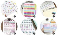 Imprimibles: 18 diseños de pegatinas para decorar agendas