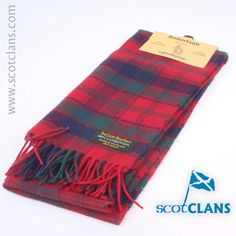 Robertson Tartan Lambswool Scarf. Free Worldwide Shipping Available