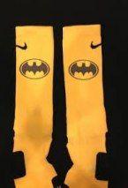 "One pair of custom ""Batman"" inspired Nike Elite Socks. Adidas Socks, Nike Elite Socks, Weaving For Kids, Basketball Is Life, Super Hero Outfits, Athletic Socks, Cool Socks, Batman, Nike Stuff"