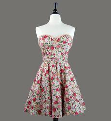 Vintage Inspired Dresses Womens Floral Dresses Nick & Mo Poppy Garden