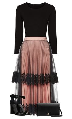 Feb 2020 - A fashion look from April 2017 by miagracerobinson featuring Christopher Kane, Kendall + Kylie, Givenchy, 1928 and Alexander Wang Mode Outfits, Skirt Outfits, Dress Skirt, Dress Up, Pink Dress, Modest Fashion, Hijab Fashion, Fashion Dresses, Classy Outfits
