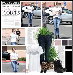 """Emma Roberts goes out shopping in Los Angeles where the star gave a smile as she made her way back to her car"" by alessia3012 ❤ liked on Polyvore"