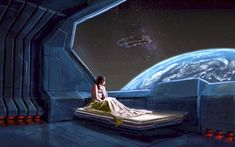 Beds illustrations outer space planets science fiction spaceships vehicle women widescreen desktop mobile iphone android hd wallpaper and desktop. Fantasy Girl, Sci Fi Fantasy, Space Fantasy, Spaceship Interior, Futuristic Interior, Futuristic Furniture, Cyberpunk, 1366x768 Wallpaper, Science Fiction Kunst