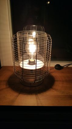 zelfgemaakte retro lamp