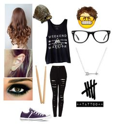 """Gender Bent Ashton Irwin"" by hannahdybel ❤ liked on Polyvore featuring Veja, The Ragged Priest, Converse, Adina Reyter, Muse and Steinbach"