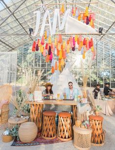 Swanky Seventies + Desert Crushin': Vintage Meets Festival Vibes from the Jam Event 2018 - Green Wedding Shoes Swanky Seventies + Desert Crushin': Vintage Meets Festival Vibes from the Jam Event 2018 - Green Wedding Shoes The Jam, Photowall Ideas, Decoration Design, Green Wedding Shoes, Industrial Wedding, Event Styling, Event Decor, Event Ideas, Corporate Events